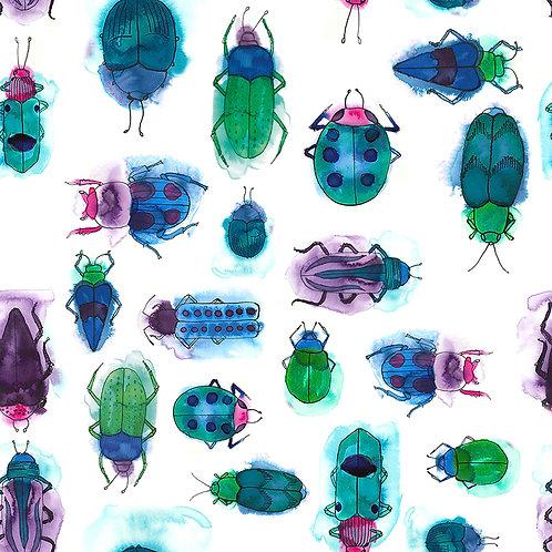 Jewel Bugs fabric sample