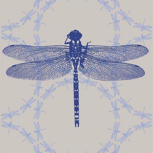 Dragonfly Ripples fabric sample- Grey