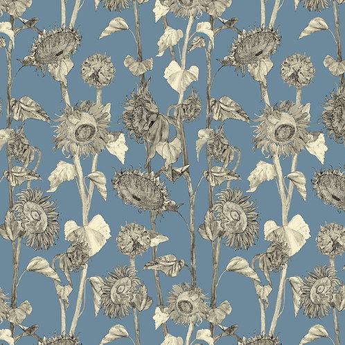 Sunflower wallpaper- Wedgewood