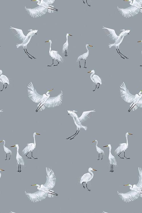 Egret Wallpaper - Rain