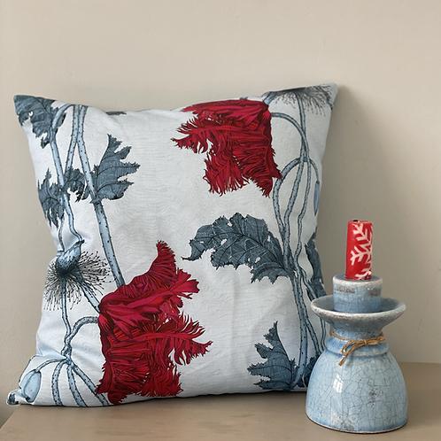 Poppy cushion - Blue