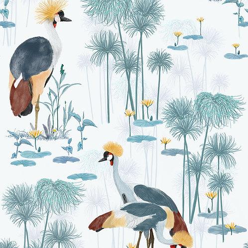 Cranes Wallpaper -pool sample