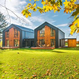 Moderne Architektur im Grünen