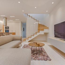Wohnzimmer in skandinavischem Design