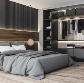 Minimalistisches Schlafzimmer