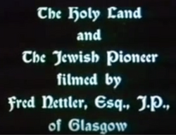 The Holy Land and the Jewish Pioneer