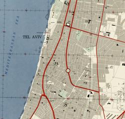 1944 Map of Tel Aviv-Yafo