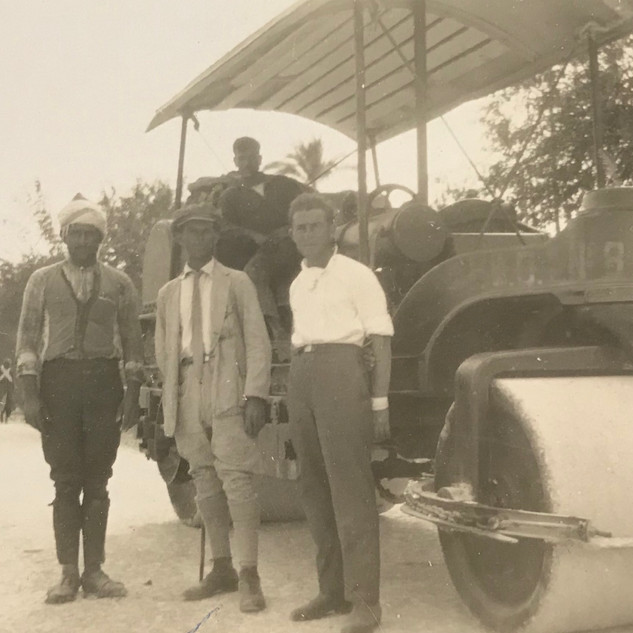 Yaakov Dubno with road building crew