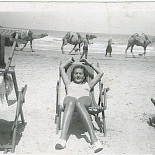 Woman at Tel Aviv Beach, 1930s