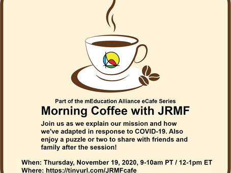 Figure Out the Future Over Coffee at JRMF