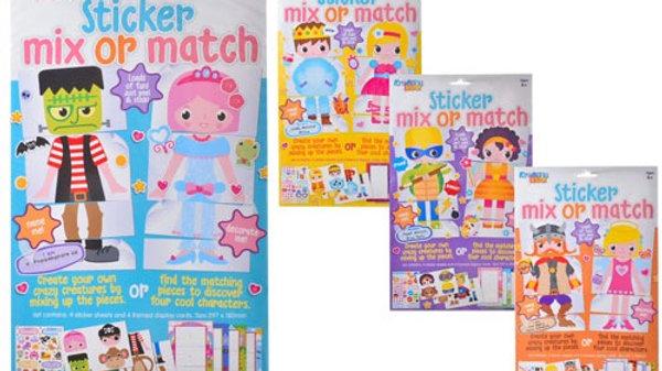 Sticker mix or match craft pack