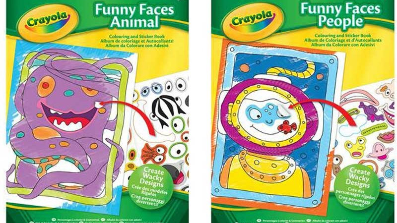 Crayola Funny Faces Book - people or animals RRP £3.29