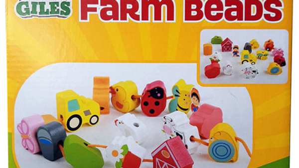 Wooden Farm Beads.