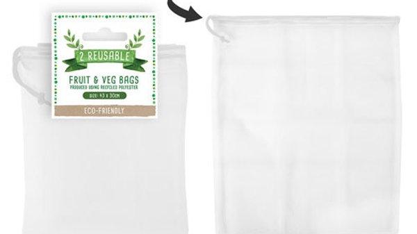 2 pack reusable fruit and veg bag