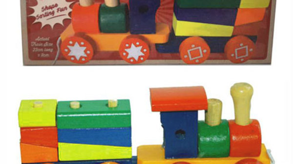 Wooden Train and Carriage Puzzle