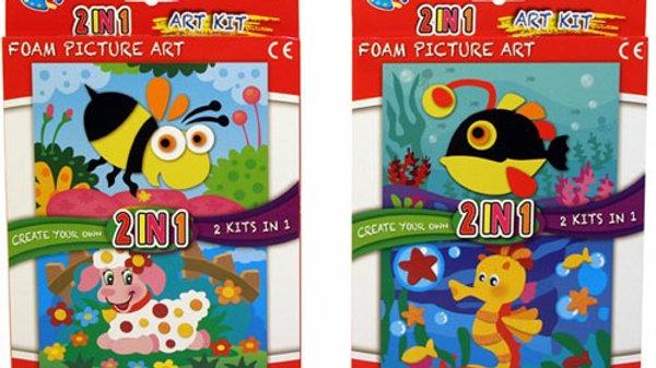 2 in 1 Foam Felt Art Picture Kit