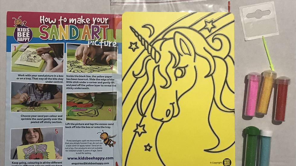 Sand art A5 Unicorn