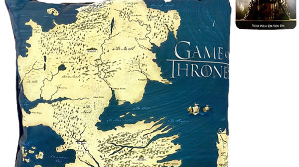 Official Game Of Thrones Cushion Westeros Map