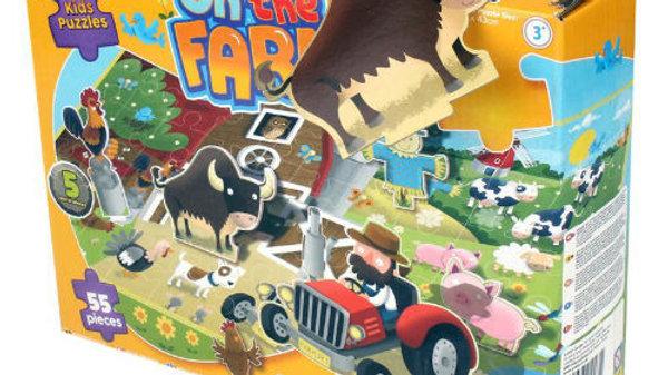 3D On the Farm Puzzle 55 Pieces.