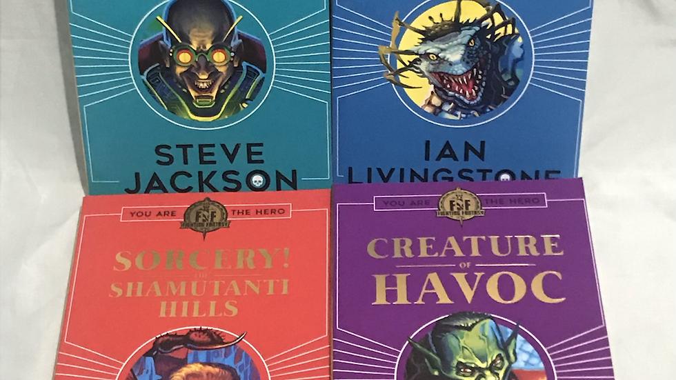 4 Fighting Fantasy books RRP £27.96