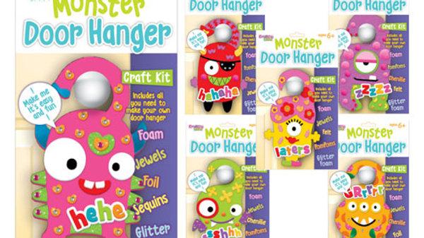 Monster Door Hanger Craft Set.