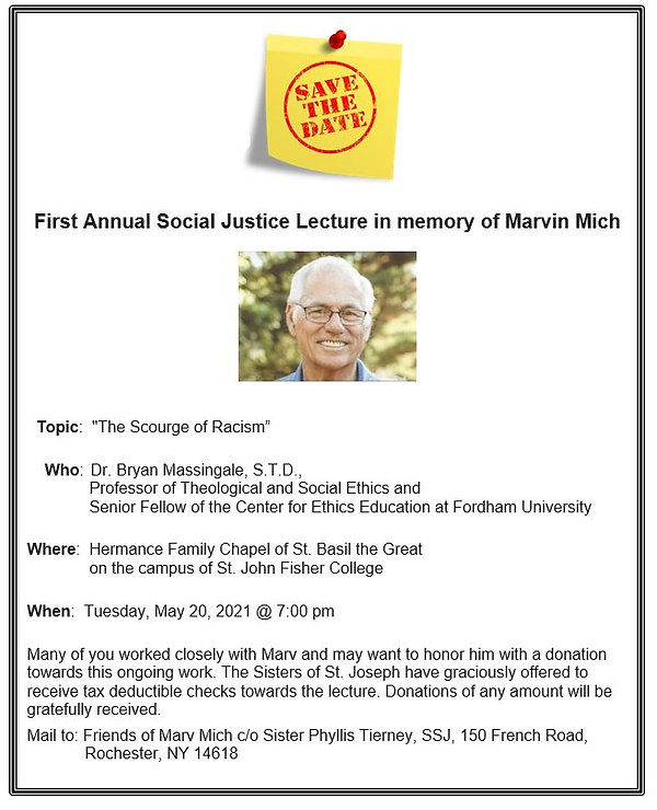 First Annual Social Justice Lecture - Ma