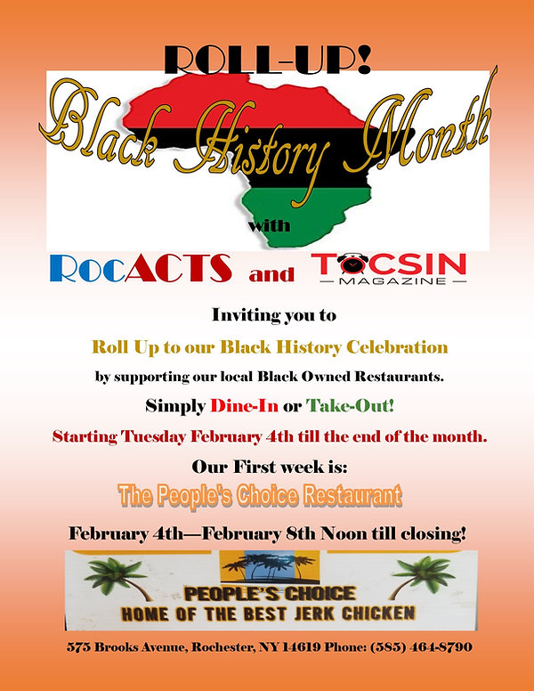 Roll-Up Black History Month Peoples Choi