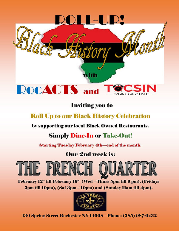 Roll-Up Black History Month French Quart