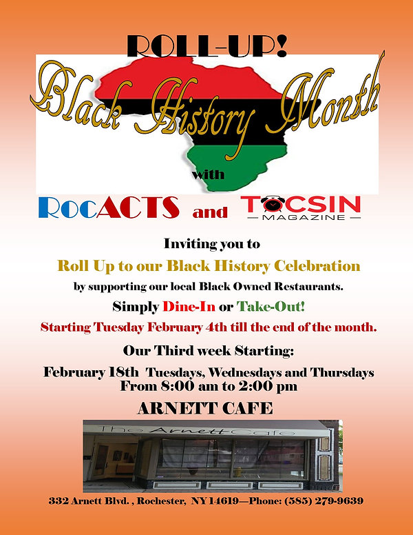 Roll-Up Black History Month Arnett Cafe