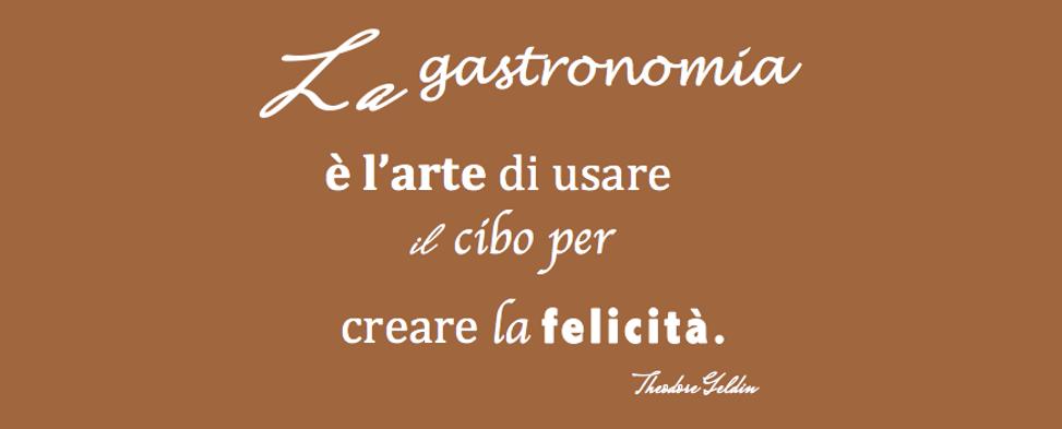 Motto della gastronomia gusto e