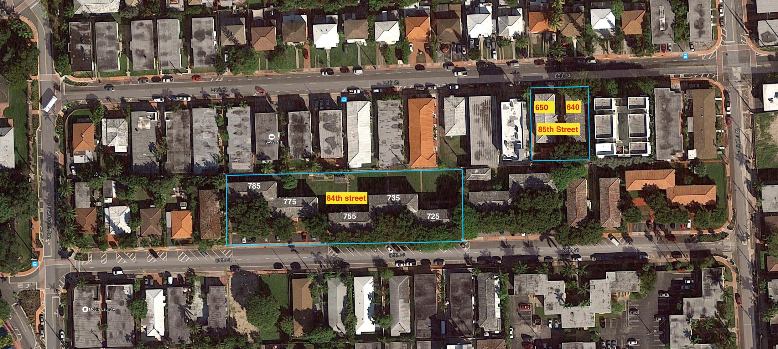 Map details of buildings