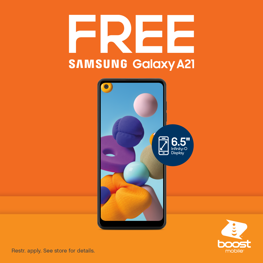 Copy of Free Phone (Samsung A21) Standal