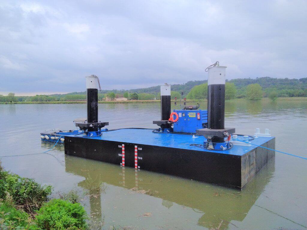 barge travaux