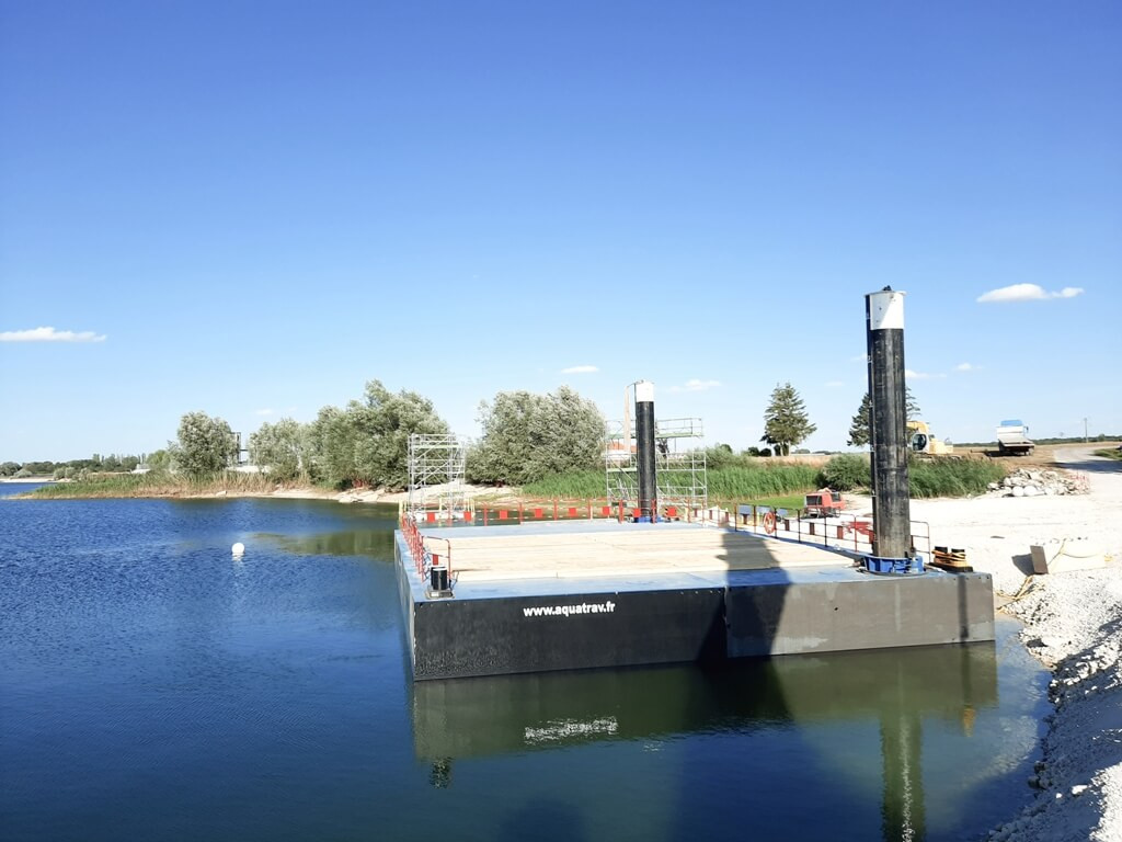 location ponton flottant