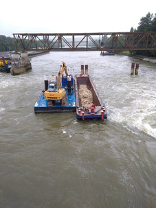 location pontons flottants