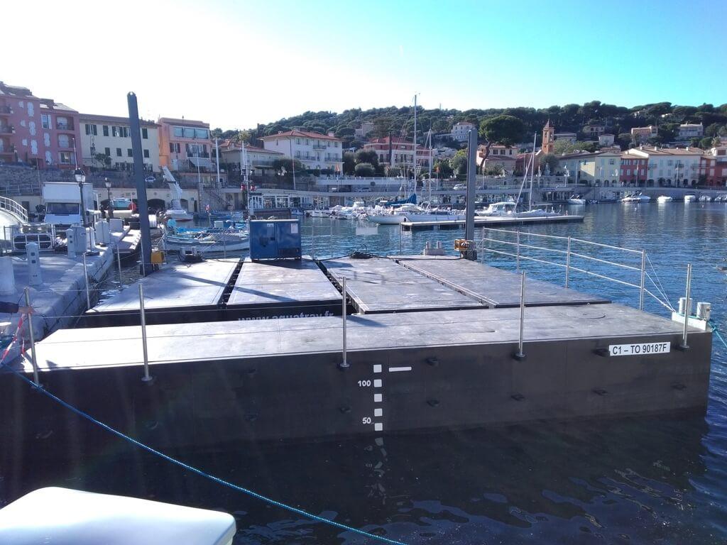 location passerelle flottante
