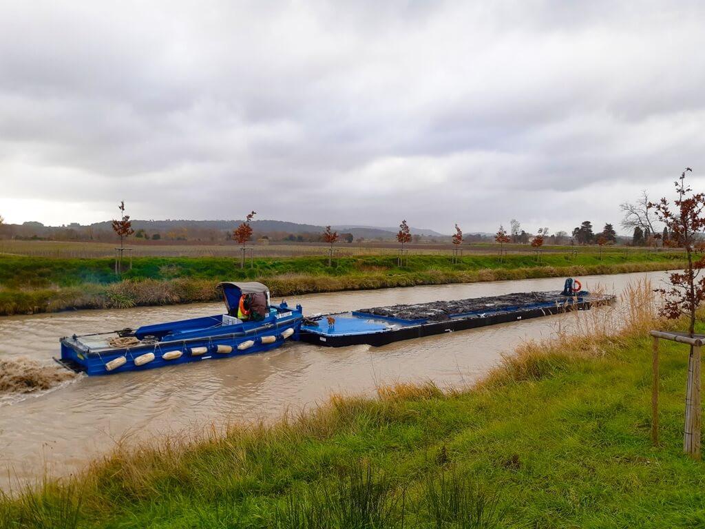 location pousseurs fluvial