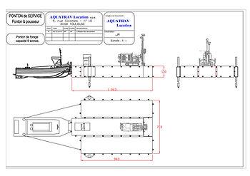 location ponton modulaire