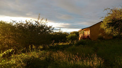 Sunrise over the cottages