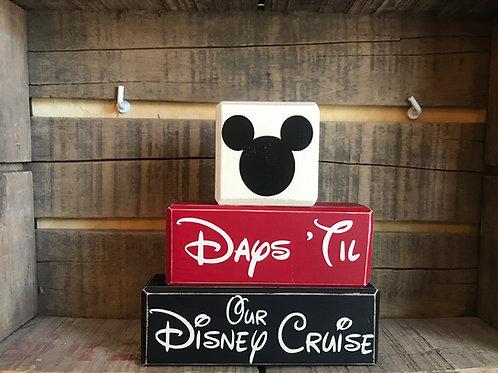 Days Til Our Disney Cruise Stacking Blocks