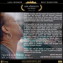 GIVE US THIS DAY - LAFA Best Director -