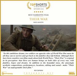 2018 09 Best Narrative Film - THEIR WAR.