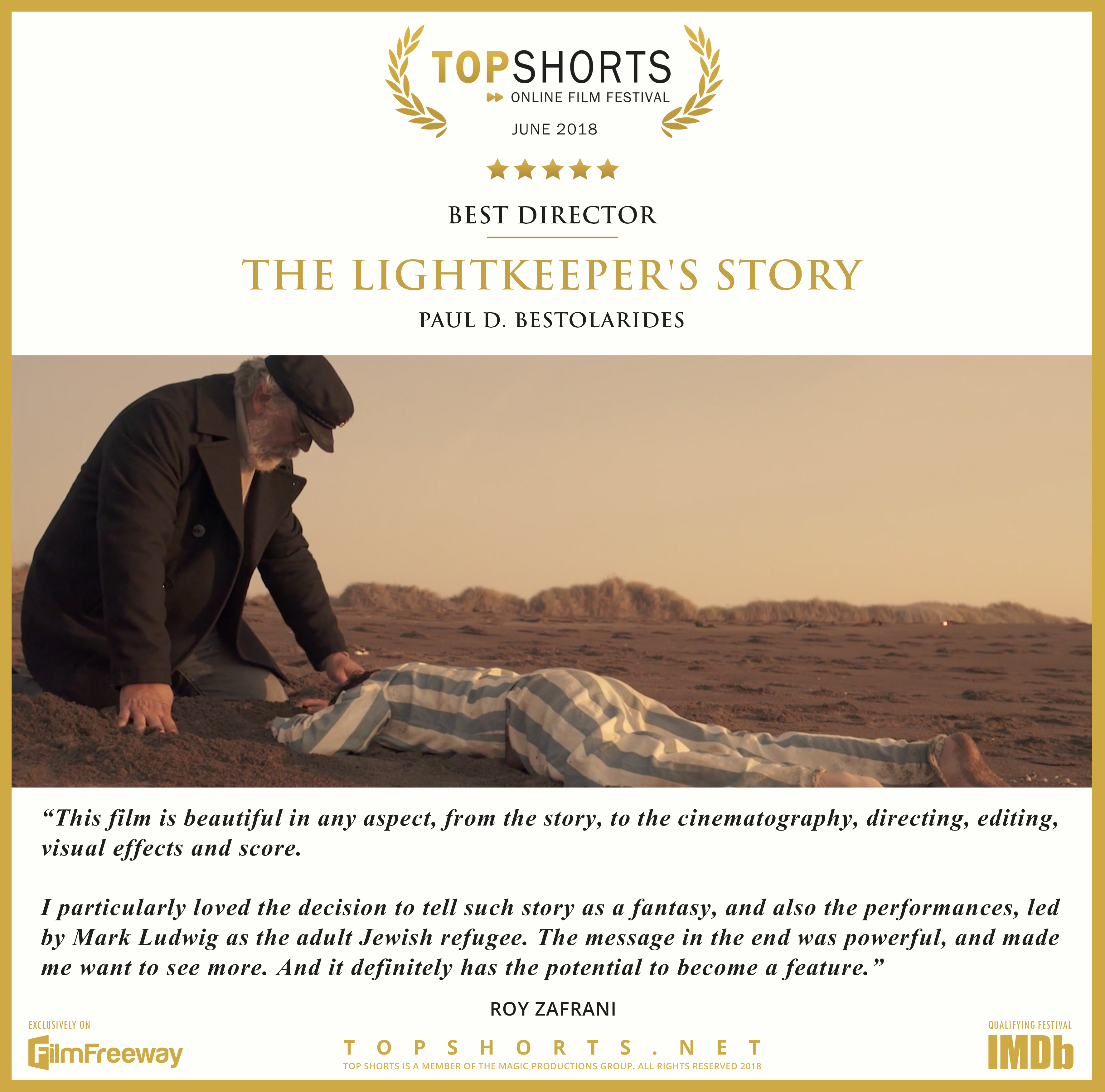 2018 06 Best Director - The Lightkeeper's Story