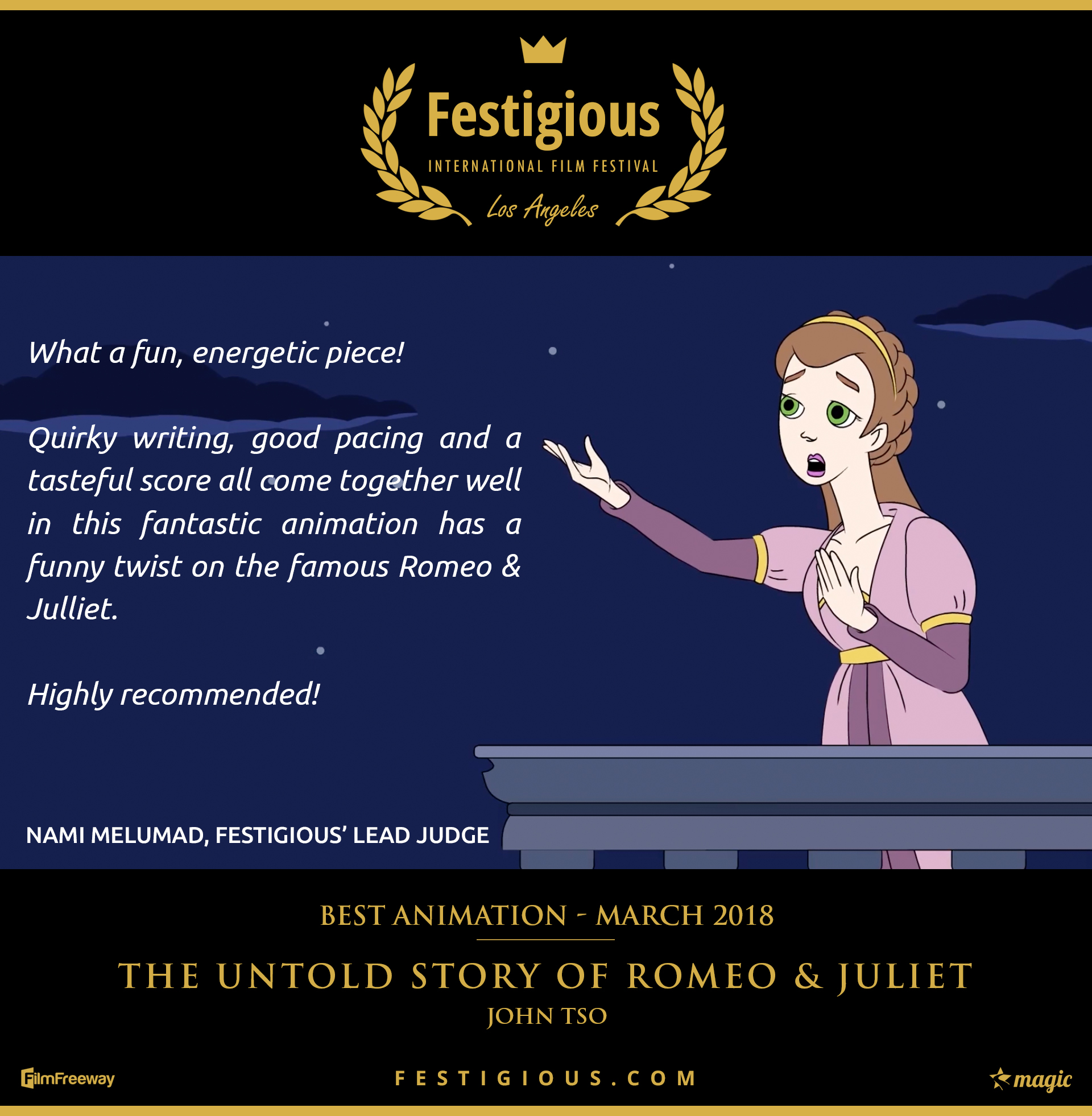 The Untold Story of Romeo and Juliet - Best Animation