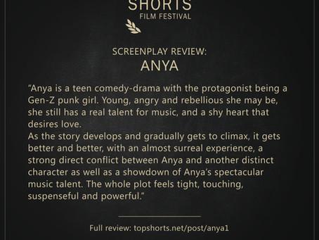 Screenplay Review: Anya