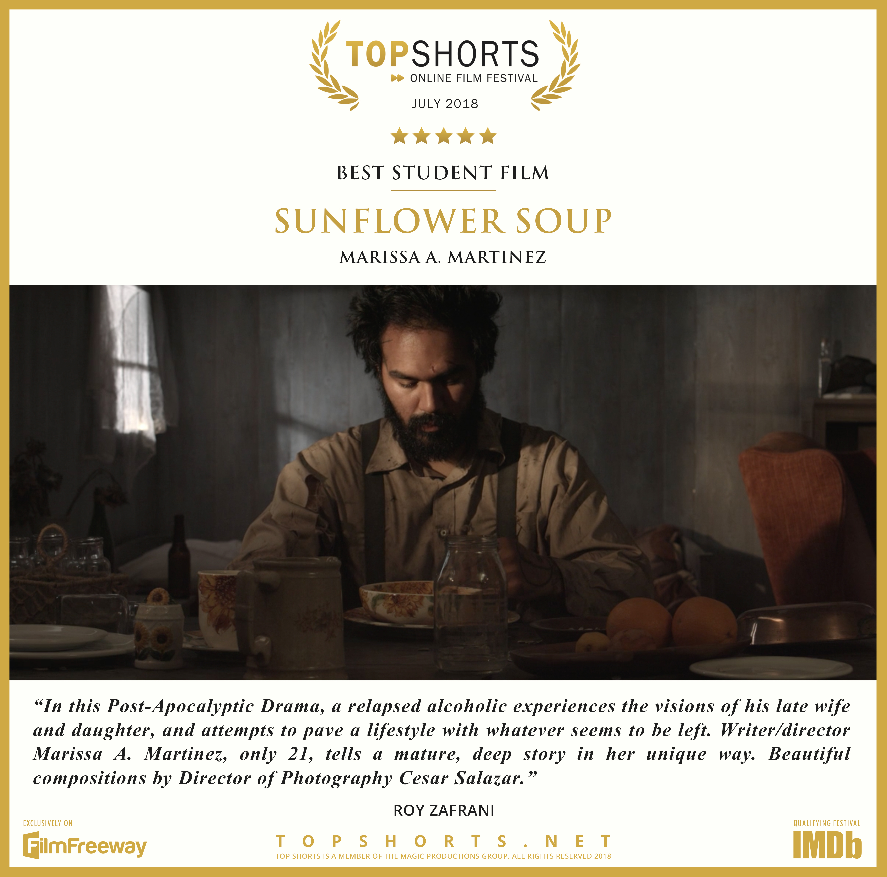 2018 07 Best Student Film - Sunflower Soup