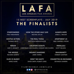 ‏‏‏‏‏‏‏‏‏‏LAFA SCREENPLAY FINALISTS 2019