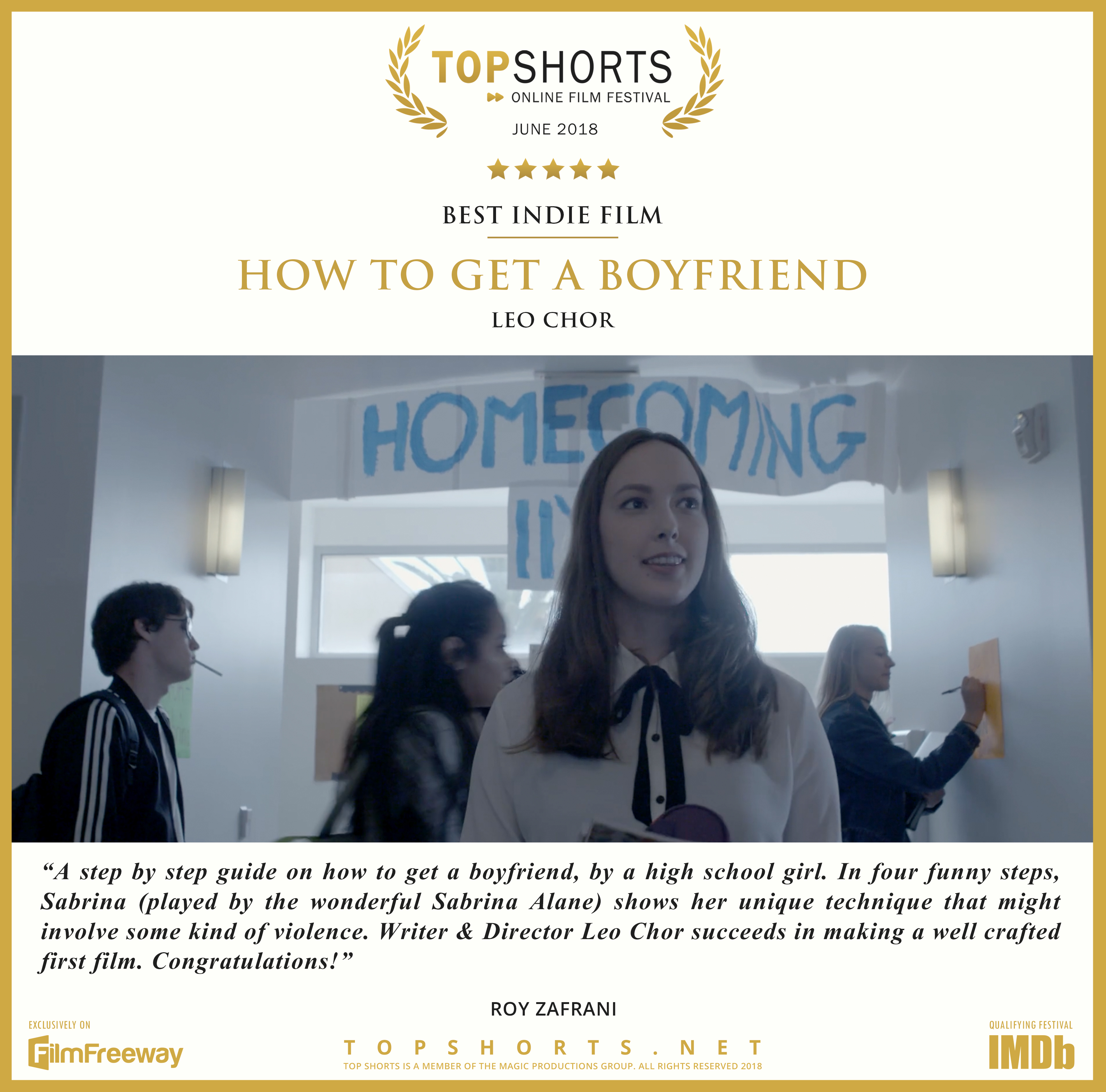 2018 06 Best Indie Film - How To Get A Boyfriend