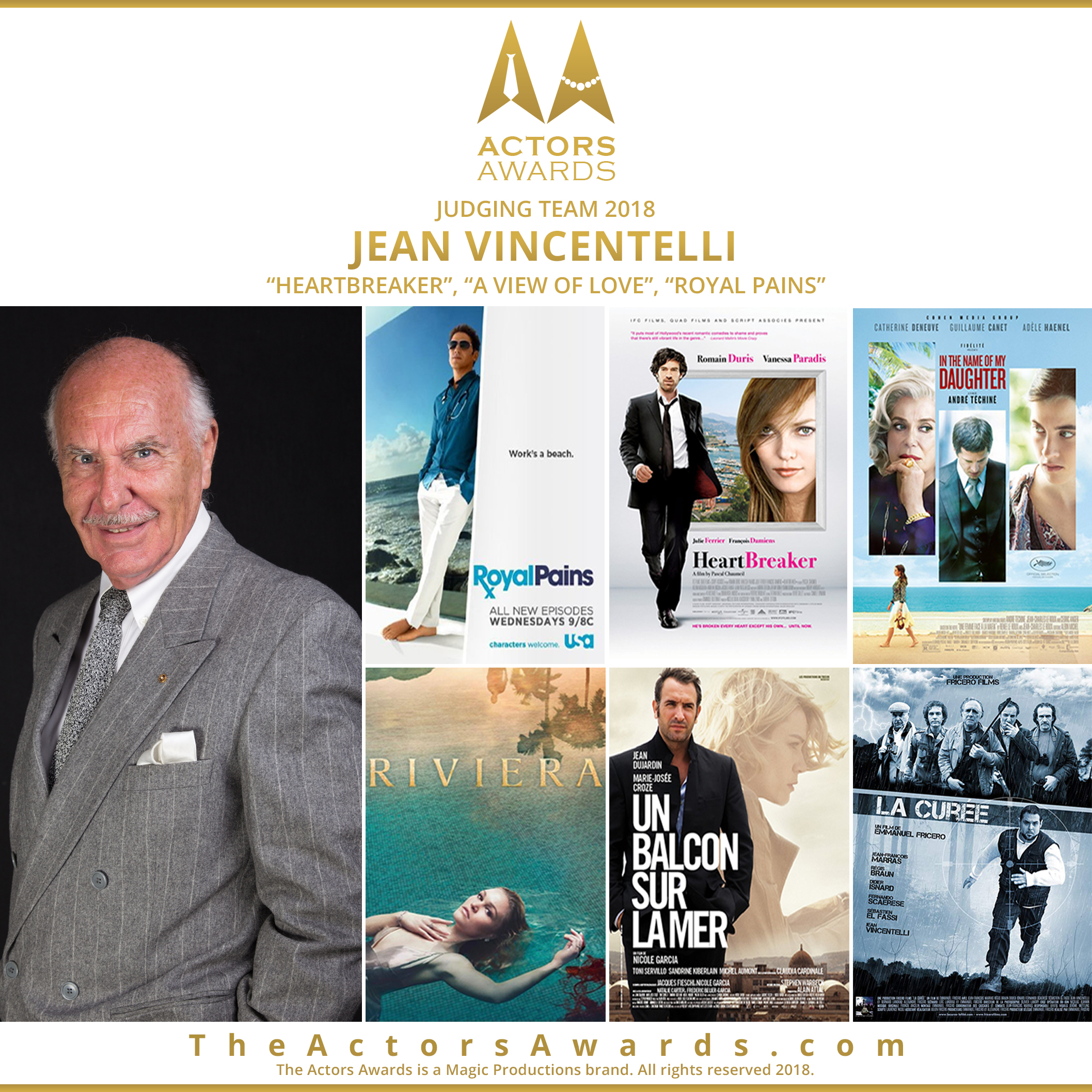 Actors Awards 2018 - Jean Vincentelli
