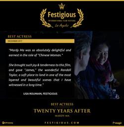 Twenty Years After - Festigious Best Actress - 2017 12